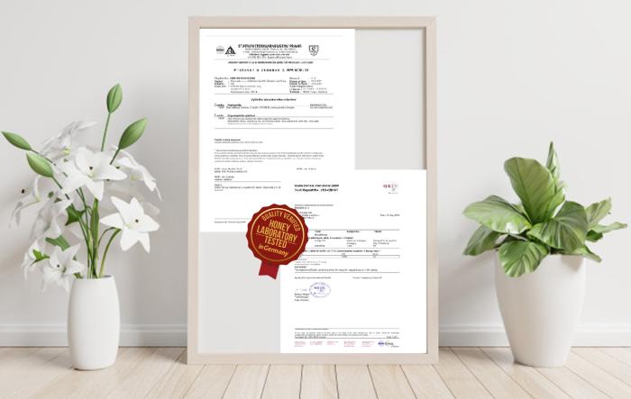 honeymix certifikát
